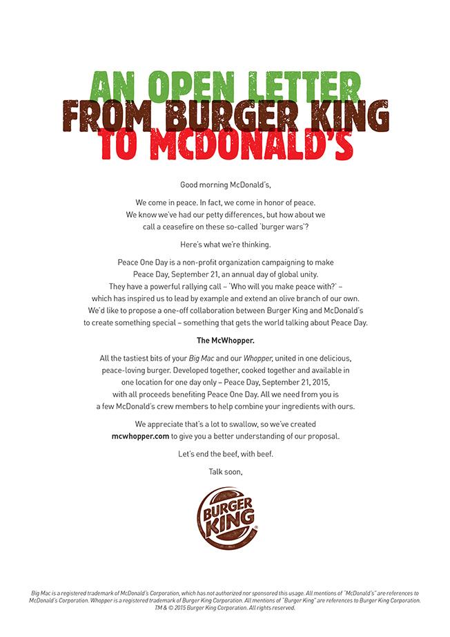 burger king open letter new york times advertisement